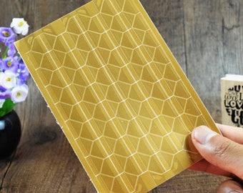 3 Sheets 306pcs,Gold PVC Photo Corners Stickers, Scrapbooking Embellishment, Journal Stickers, Photo Album, Diary Deco, Self-Adhesive
