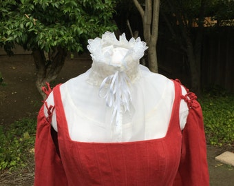 Elizabethan Renaissance Organza Partlet - with ties