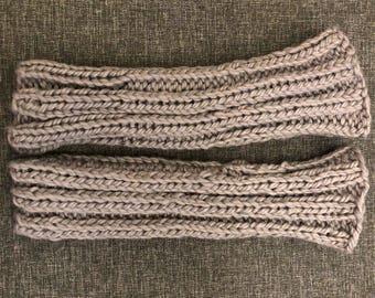 Grey merino wool hand warmers