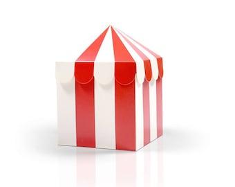 Circus Carnival Favor Boxes | Carnival Favor Boxes Carnival Birthday Party Favor Circus Birthday Under the Big Top Circus Tent Favor Box