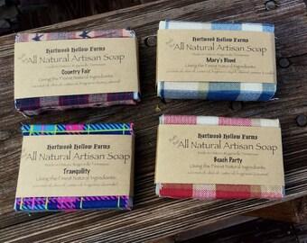 Four Bar Handcrafted All Natural Artisan Soap Sampler