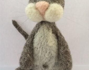 Grey cat needle felt kit ( starter kit )