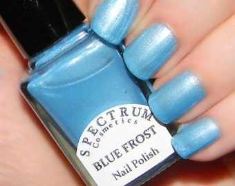 BLUE FROST  Frosty Light Blue Nail Polish Winter Blues Collection