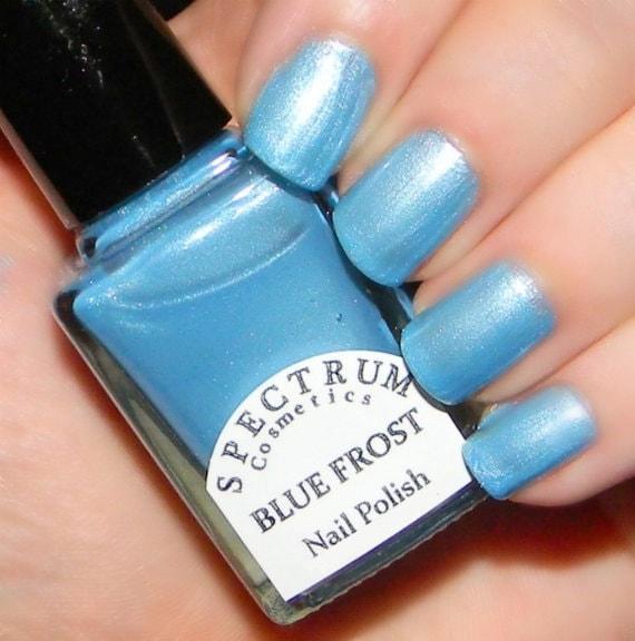 BLUE FROST Frosty Light Blue Nail Polish Winter Blues
