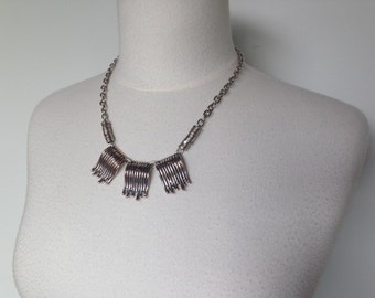 One Of A Kind Unique Silver Vintage Handmade Necklace With A Hint Of Copper