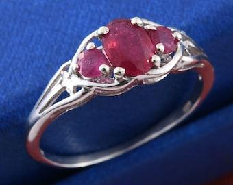 Burmese Ruby Ring- Size 8