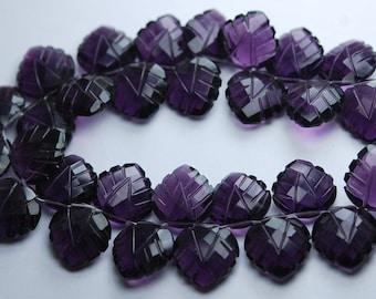 5 Matched Pairs,Purple Quartz Carving Faceted Heart Shape Briolettes,12mm