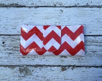 SALE Red Chevron Cash Envelope Budgeting Wallet