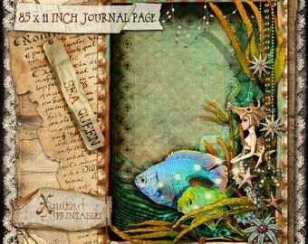 Sea Queen - Printable digital art Page