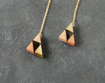 triangles with triangle patterns - Mix beige (14kgf hook type) - S size