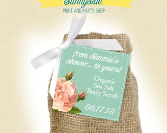 From My Shower to Yours - Soap Tags - Bridal Shower Favor Tag - Printable, Scrub a dub dub