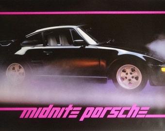 Midnite Porsche 23x35 Automotive Poster 1985