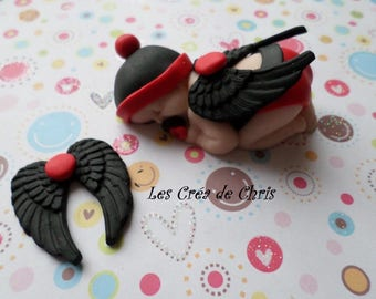 polymer clay baby mixed Angel.