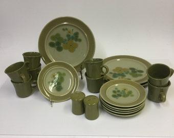 Franciscan Pebble Beach Earthenware. Circa 1969-1970   Vintage Dinnerware. BlackRiverArtGallery & Beach dinnerware   Etsy