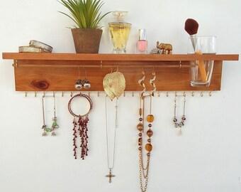 Jewelry organizer, all-in-one jewelry shelf, jewelry rack, gift for her