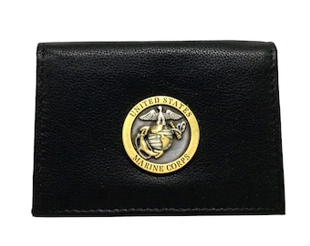 US Marines Business Card Case – Bronze/Two-Tone
