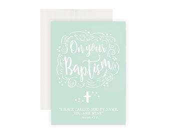 Baptism Card | Christening Card | Catholic Baptism | Boy Baptism | On Your Baptism | Congratulations | Handmade Card | Catholic Cards
