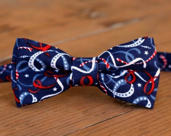 Boys Patriotic Bow Tie - red white blue bow tie - us bow tie - American bow tie - toddler bow tie - bow ties for infant - 4th of July gift