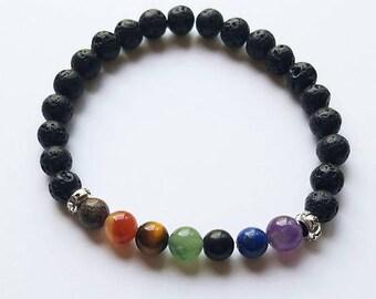 Whole sale chakra bracelets - lava beads - essential oil diffusers