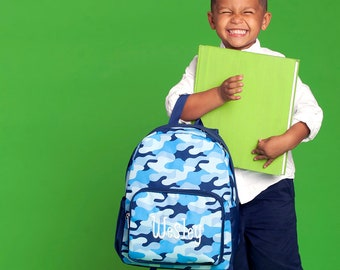 Preschool Backpack ~ Monogrammed  Cool Camo Backpack ~ Monogrammed boys backpack ~ Back to school backpack