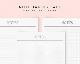 Notes Bundle Planner Pack Bullet Journal Dot Grid Graph Paper