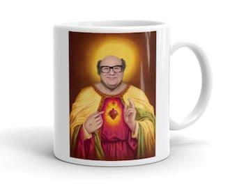 Danny DeVito Jesus Print Mug