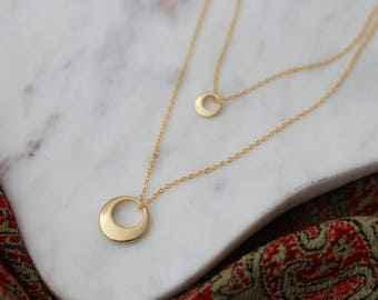 Geometric Jewelry - Crescent Necklace - Layering Necklace - Bohemian Jewelry - Bridal Jewelry - Minimalist Jewelry - Gift for Her