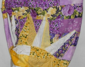 Bag/Purse -Scatter Sunshine Bag/yellow/purple/white/zipper/batted (#O99)
