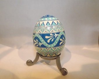 Swirl and band Pysanky Egg
