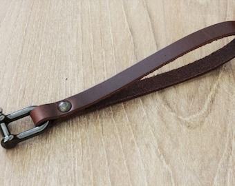 Leather Key Chain Bracelet Keychain Wrist Leather Bracelet  Wrist strap  Key Holder Leather Keychain Leather keyfob (MC-37)