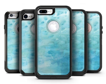 Mixed Teal 56 Absorbed Watercolor Texture - OtterBox Case Skin-Kit for the iPhone, Galaxy & More