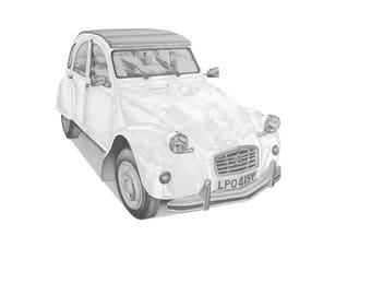 Citroen 2CV (light) PRINT
