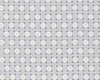 Rhoda Ruth by Elizabeth Hartman for Robert Kaufman Fabrics - 1/2 yard cut - # AZH 15455-12 Grey
