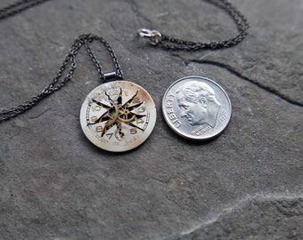 """Watch Face Necklace """"Garris"""" Deconstructed Cut Dial Pendant Recycled Upcycled Gear Art Steampunk A Mechanical Mind Gift Idea"""