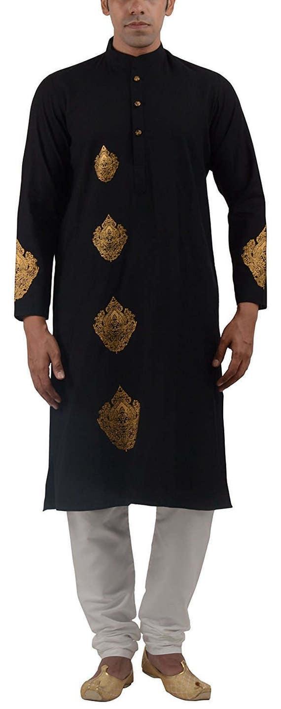 Indian Kurta - Desi - Gift for him- Traditional look- Ethnic wear-Indian party-Celebrations- Kurta for the man- Casual Kurta- Ladka- Bhai S2h1V