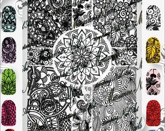 Nail art stamping plate Marianne Nails mandala 15