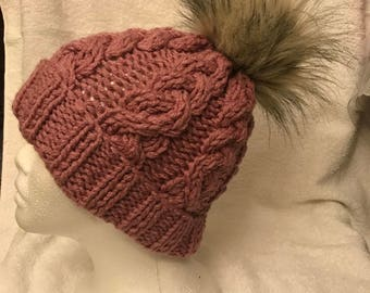 Cameo Pink Knitted hat