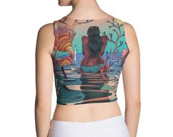 Dyani pop art pin up set Sublimation Cut & Sew Crop Top