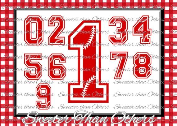 Baseball Svg Baseball Numbers Cut File Love Softball Htv