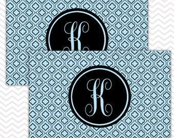 Placemat Set of 2, Personalized Placemats, Monogrammed Placemats, Laminated Placemats, Paper and Laminate Placemats