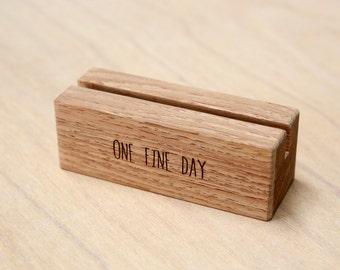 10 x Personalized Wedding Table Menu Holder | SALE FINAL STOCK | Custom Wooden Table Number Holder | Custom Rustic Wedding Decoration