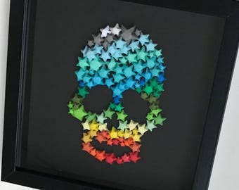 Skull box frame made-to-order (rainbow shades)