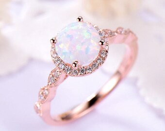 Antique Opal Ring Etsy