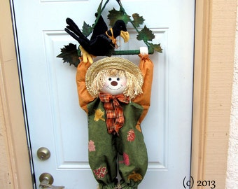 PDF Pattern, Primitive Scarecrow, Primitive Crow, Wall Hanging,  Door decoration