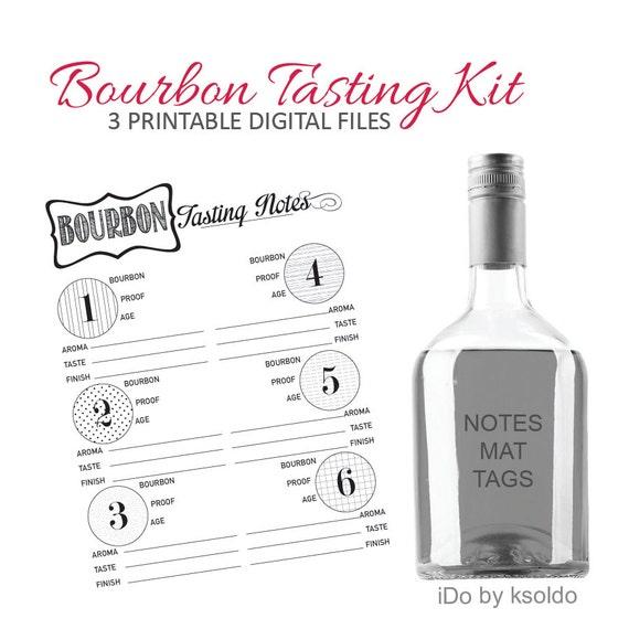 bourbon tasting whiskey tasting kit for 6 tastings. Black Bedroom Furniture Sets. Home Design Ideas