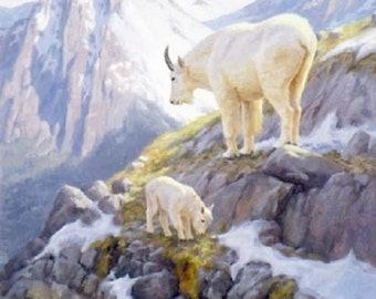 Mountain Goats... ~Counted~ Cross Stitch Pattern ~Computer Generated~... BBXS