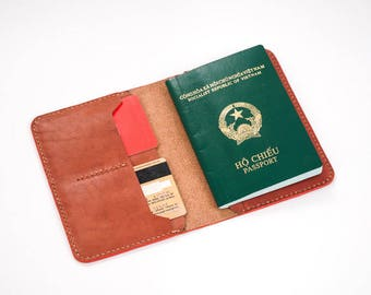 Passport Wallet Leather Pattern 4
