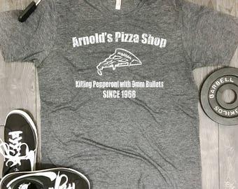 Arnolds Pizza Shop mens shirt, fitness motivation, funny workout shirt, gym shirt mens, best workout shirts, workout shirt mens