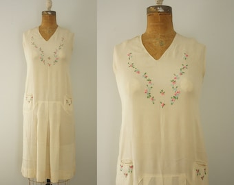 1920s dress | vintage 20s embroidered dress