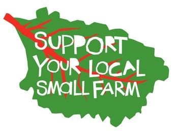 Support your local small farm bumper sticker swiss chard die cut decal